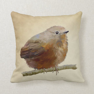 Juvenile Robin Throw Pillow