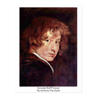 Juvenile Self-Portrait By Anthony Van Dyck Postcard