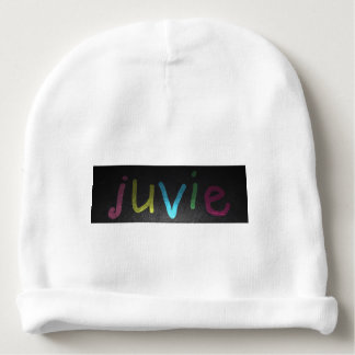juvie Baby Cotton Beanie White Baby Beanie
