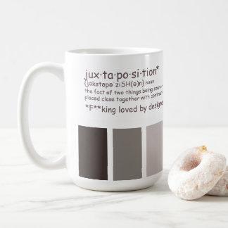 Juxtaposition definition coffee mug