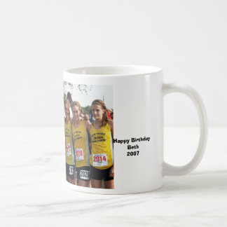 JV_CrossCountry_Girls, Happy Birthday, Beth, 2007 Coffee Mug