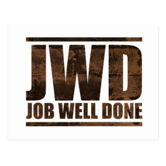 JWD Job Well Done - Wash Design Postcard