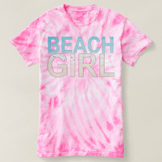"JXG ""BEACH GIRL"" PINK TIE-DYE T-SHIRT"