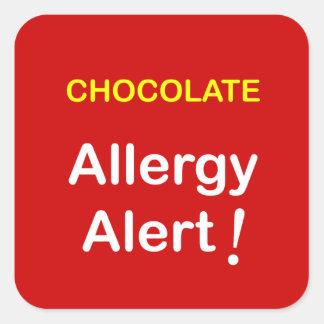 k1 - Allergy Alert - CHOCOLATE. Square Sticker