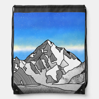 K2 Mount Godwin-Austen Chhogori Drawstring Bag