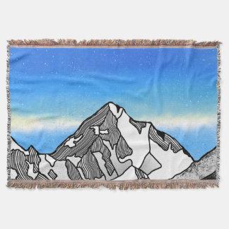 K2 Mount Godwin-Austen Chhogori Throw Blanket