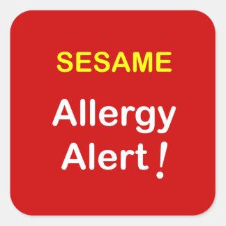 k7 - Allergy Alert - SESAME. Square Sticker