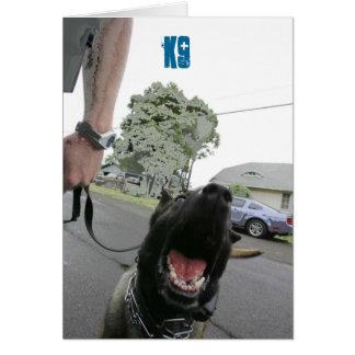 K9 Blank Greeting Card