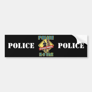 K9 Criminals Beware Bumper Sticker