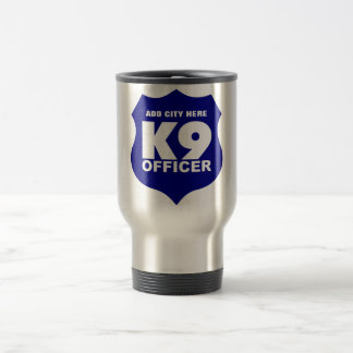 K9 Officer Travel Mug in Blue, ADD CITY HERE