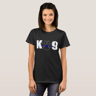 K9 Paw Police Officer Thin Blue Line Supporter Pol T-Shirt