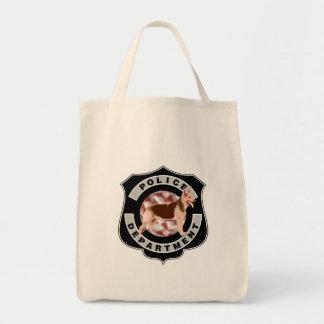 K9 Police Grocery Tote Bag