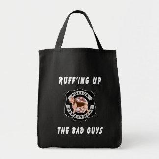 K9 Police Dog Grocery Tote Bag