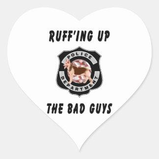 K9 Police Dog Heart Sticker