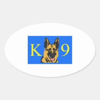 K9 POLICE DOG OVAL STICKER