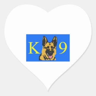 K9 POLICE DOG HEART STICKERS