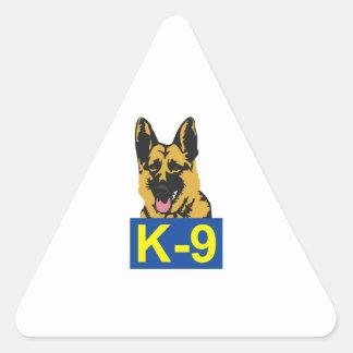 K9 POLICE DOG TRIANGLE STICKERS