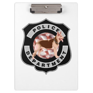 K9 Police Officers Clipboard