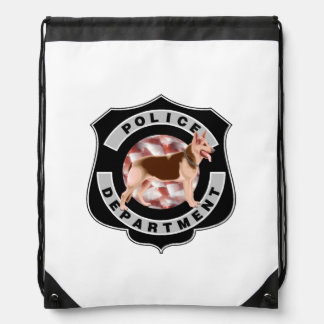 K9 Police Officers Drawstring Backpacks