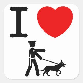K9 Police Square Sticker