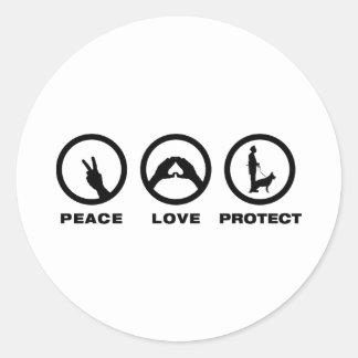 K9 Police Classic Round Sticker