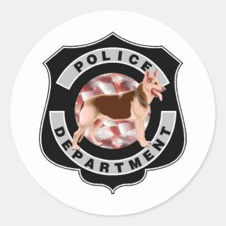 K9 Police Round Stickers