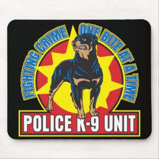 K9 Rottweiler Bite Mouse Pad