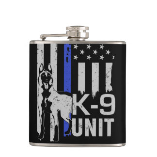K9 Unit - Belgian Malinois Hip Flask
