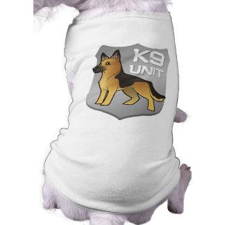 K9 Unit Cartoon German Shepherd Doggie Tee Shirt