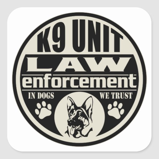 K9 Unit In Dogs We Trust Stickers