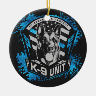 K9 Unit  - Malinois - Belgian shepherd Ceramic Ornament