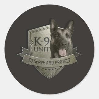 K9 Unit  - Malinois - Belgian shepherd Classic Round Sticker