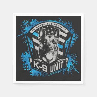 K9 Unit  - Malinois - Belgian shepherd Paper Napkin