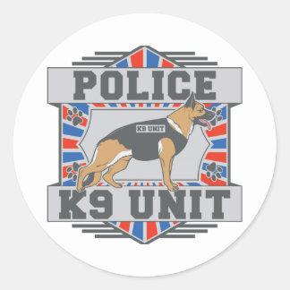 K9 Unit Police German Shepherd Round Sticker