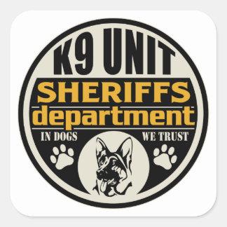 K9 Unit Sheriff's Department Square Sticker