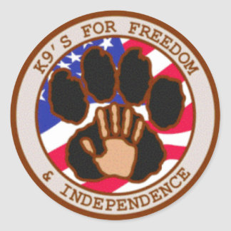 K9's For Freedom Round Sticker