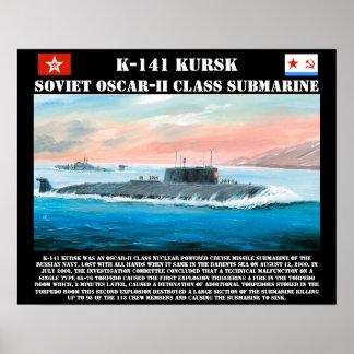 K-141 Kursk Soviet Submarine Poster