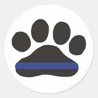 K-9 Blue Line Paw Sticker