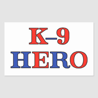 K-9 Hero Rectangular Sticker