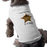 K-9 Sheriff's Deputy Tank Top Pet Tshirt