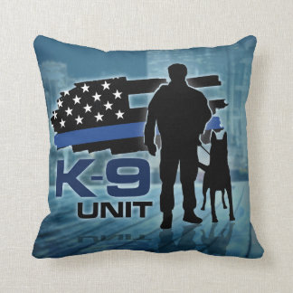 K-9 Unit  -Police Dog - Malinois Throw Pillow