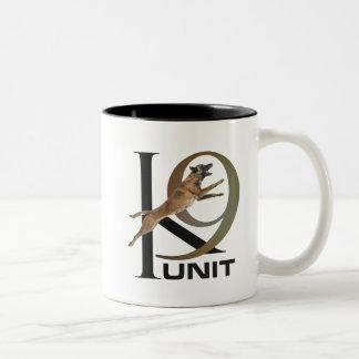 K-9 Unit  -Police Dog Unit- Malinois Two-Tone Coffee Mug