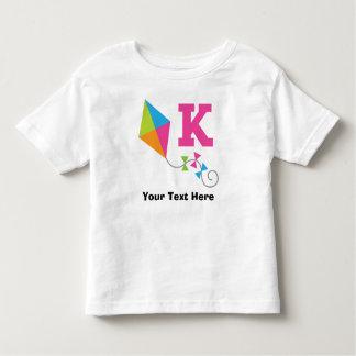 K Alphabet Letter Personalized Toddler T-shirt