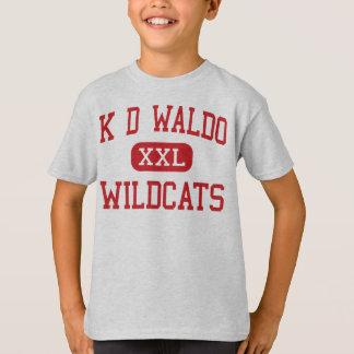 K D Waldo - Wildcats - Middle - Aurora Illinois T-Shirt