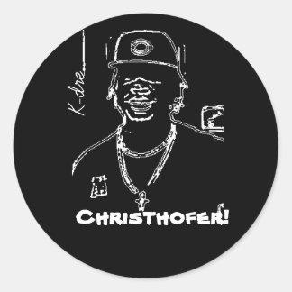 K-Dre Classic Round Sticker