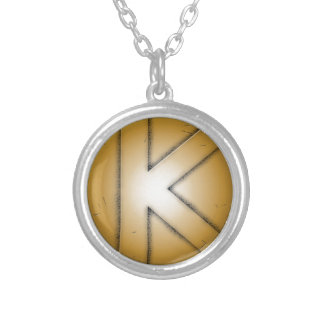 K initial letter personalized necklace