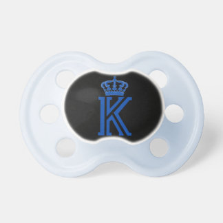 """K"" Initial Royal Crown Pacifier"