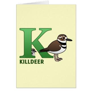 K is for Killdeer Card