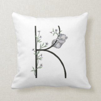 K is for Koala and Kalamis Pillow! Throw Pillow