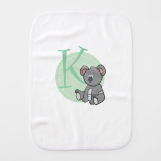 K is for Koala Burp Cloth